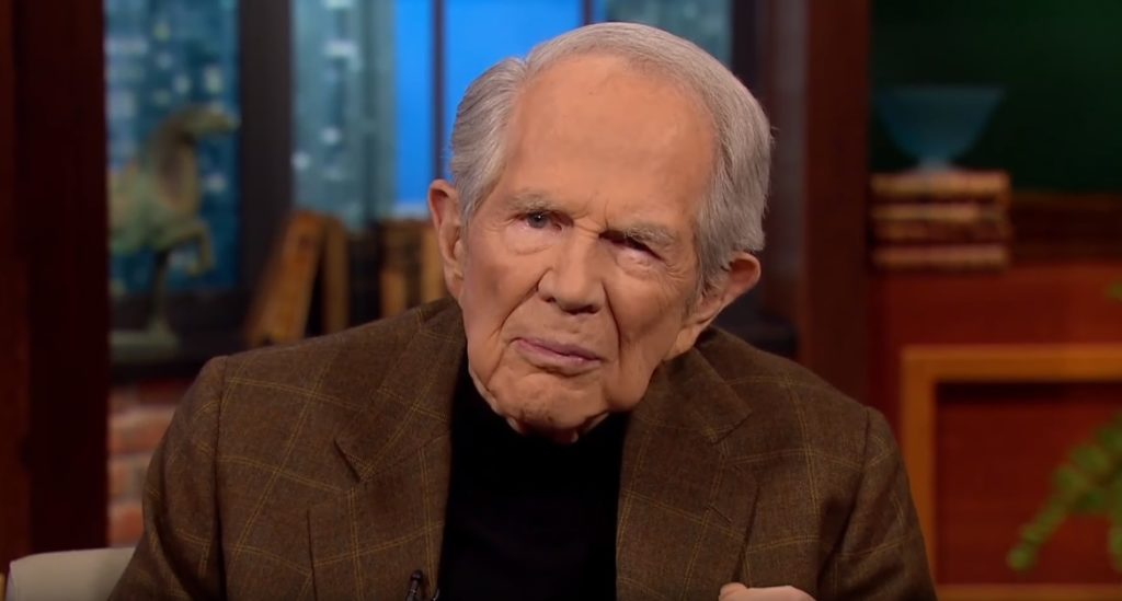 The 700 Club host Pat Robertson, who believes Satan spreads rumours that Jesus was gay