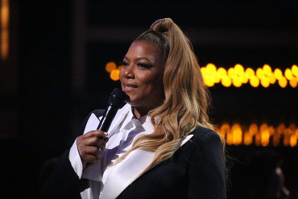 Queen Latifah onstage during the Black Girls Rock! 2018 show at New Jersey Performing Arts Center on August 26, 2018 in Newark, New Jersey.
