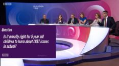 All of the Question Time panellists supported LGBT-inclusive education