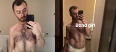Sam Smith showed off his body on Instagram