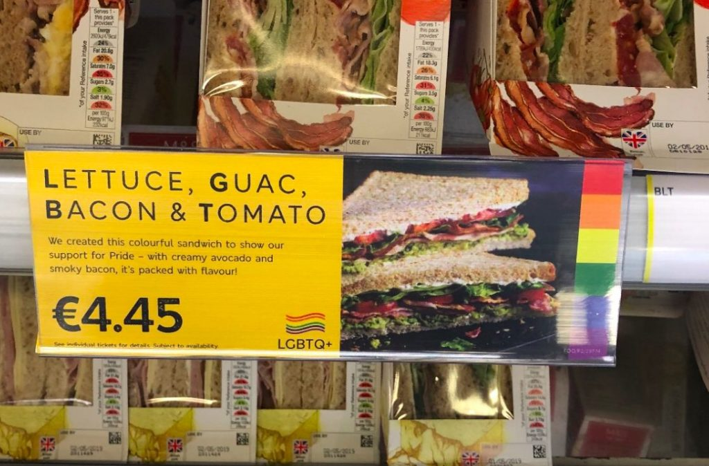 M&S have launched an LGBT sandwich.