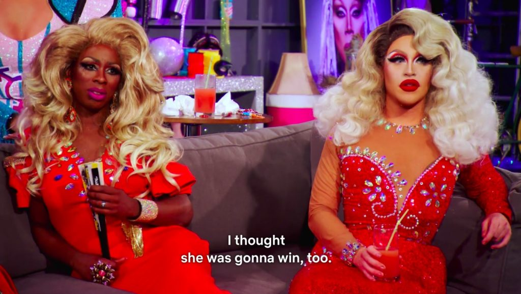 The queens are in shock as Vanjie fails to win.