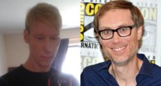 "Stephen Merchant (right), who is set to play Stephen Port (left) in a BBC drama on the ""Grindr killer"""