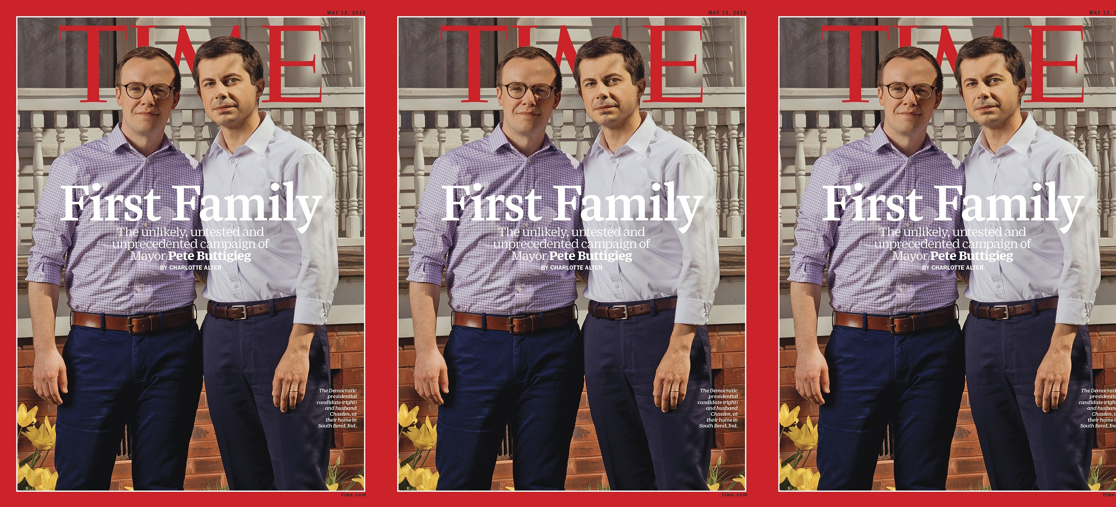 TIME Magazine dedicated the cover to Pete Buttigieg and husband Chasten Buttigieg