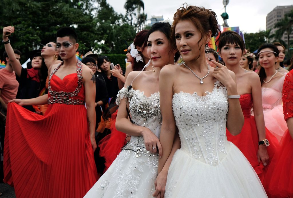 Gay marriage will be legalised in Taiwan in May 2019.