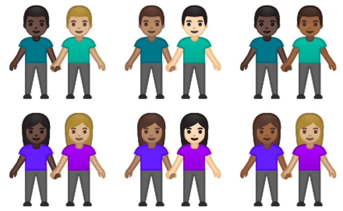 These interracial same-sex couple emojis are due to be on your phone by October