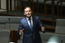 Tony Abbott speaks for amendments to the marriage equality bill at Parliament House on December 7, 2017 in Canberra, Australia.