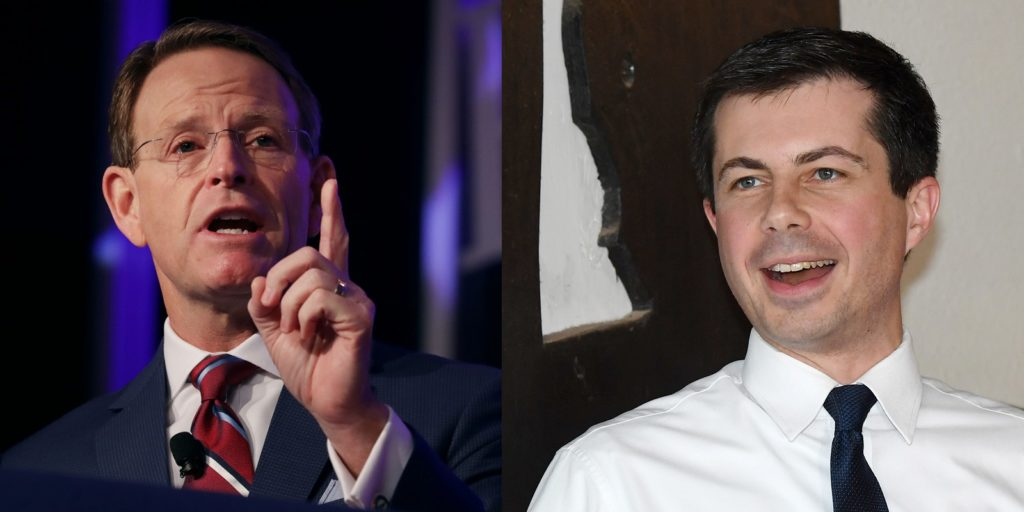 Family Research Council President Tony Perkins and Pete Buttigieg