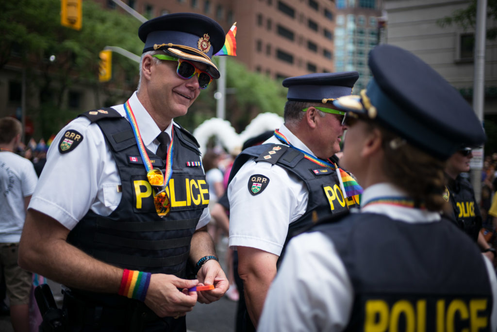 Police officers at the Pride Toronto festival in 2016.