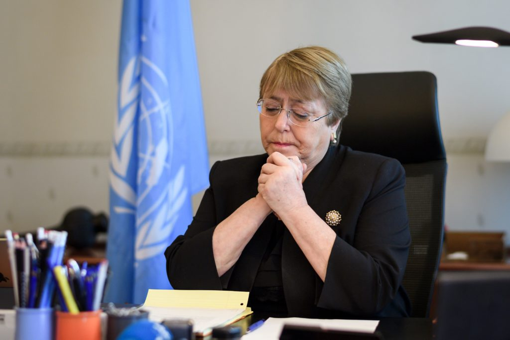 United Nations (UN) High Commissioner for Human Rights Michelle Bachelet on September 3, 2018 in Geneva.