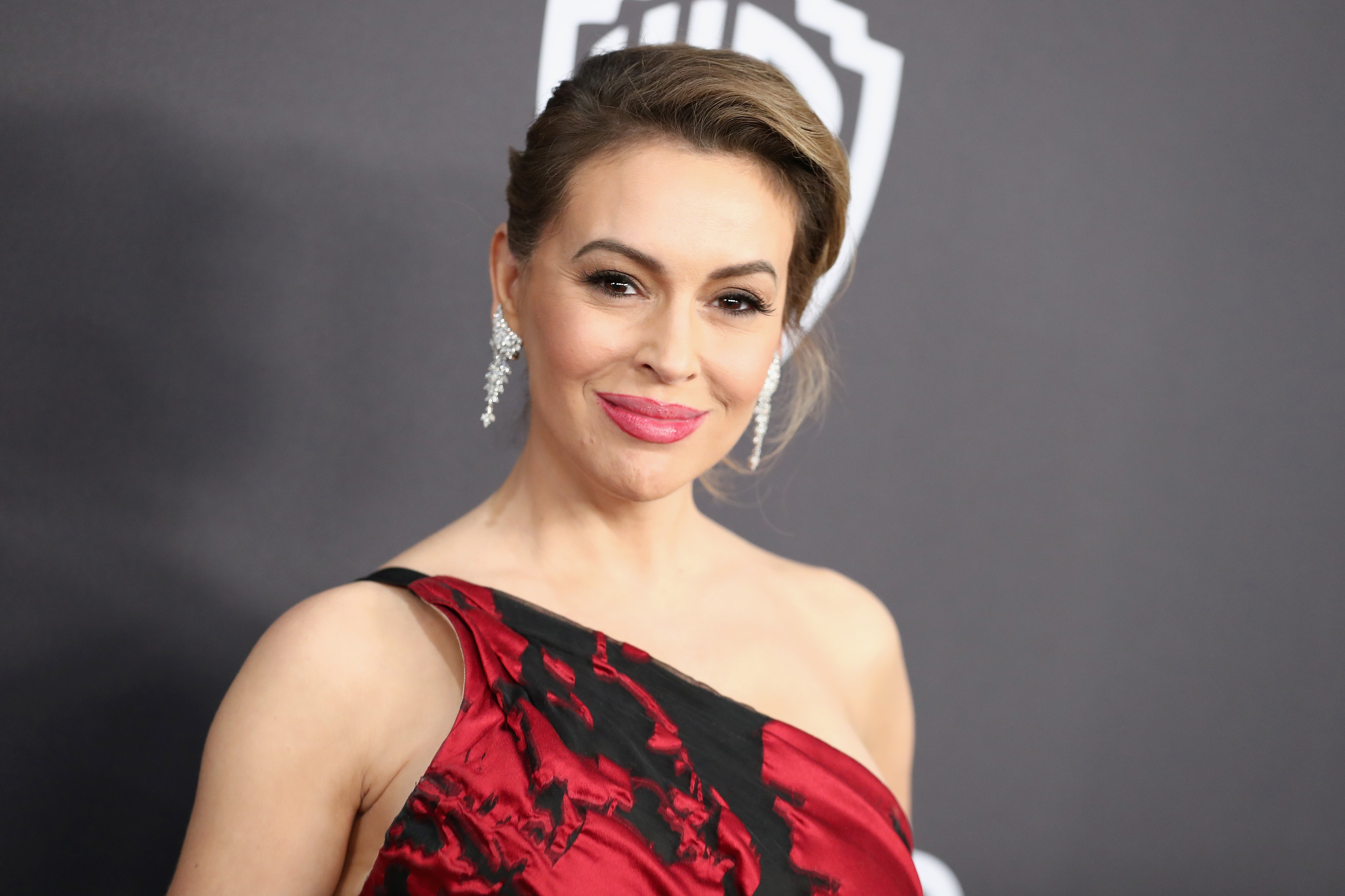 Alyssa Milano attends the InStyle And Warner Bros. Golden Globes After Party 2019 at The Beverly Hilton Hotel on January 6, 2019 in Beverly Hills, California.