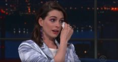 Anne Hathaway could not contain her excitement at meeting RuPaul.
