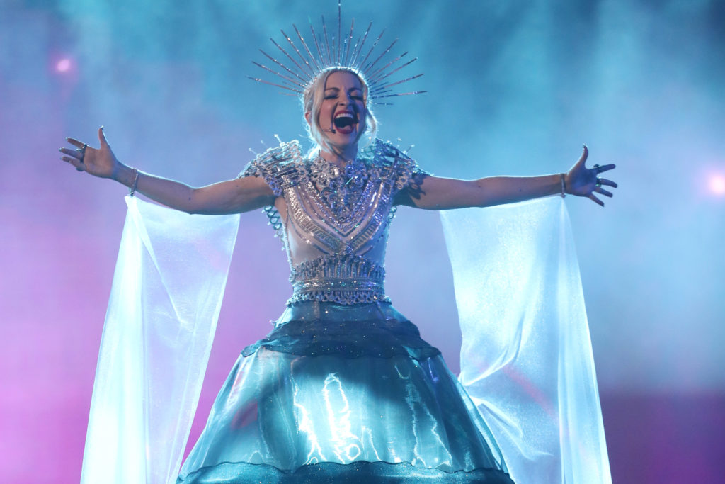 Australia contestant Kate Miller-Heidke performs during Eurovision - Australia Decides at Gold Coast Convention and Exhibition Centre on February 09, 2019 in Gold Coast, Australia