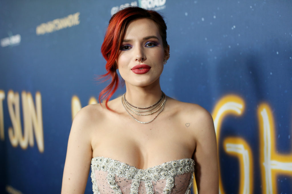 "Bella Thorne attends the premiere of Global Road Entertainment's ""Midnight Sun"" at ArcLight Hollywood on March 15, 2018 in Hollywood, California"