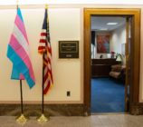 Bernie Sanders flies transgender flag outside office