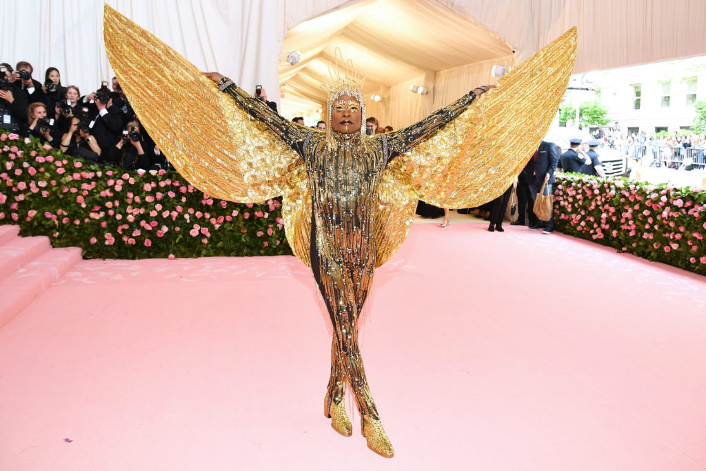 Billy Porter in gold at Met Gala 2019
