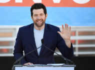 Comedian/actor Billy Eichner speaks during a rally at the Culinary Workers Union Hall Local 226 featuring former U.S. Vice President Joe Biden as they campaign for Nevada Democratic candidates on October 20, 2018 in Las Vegas, Nevada
