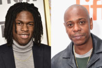 A combined picture of singer Daniel Caesar (L) and comedian Dave Chappelle (R).
