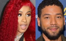 US rapper Cardi B and Empire actor Jussie Smollett
