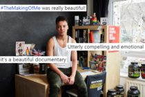 A promotional shot for Channel 4's The Making of Me, overlaid with tweets