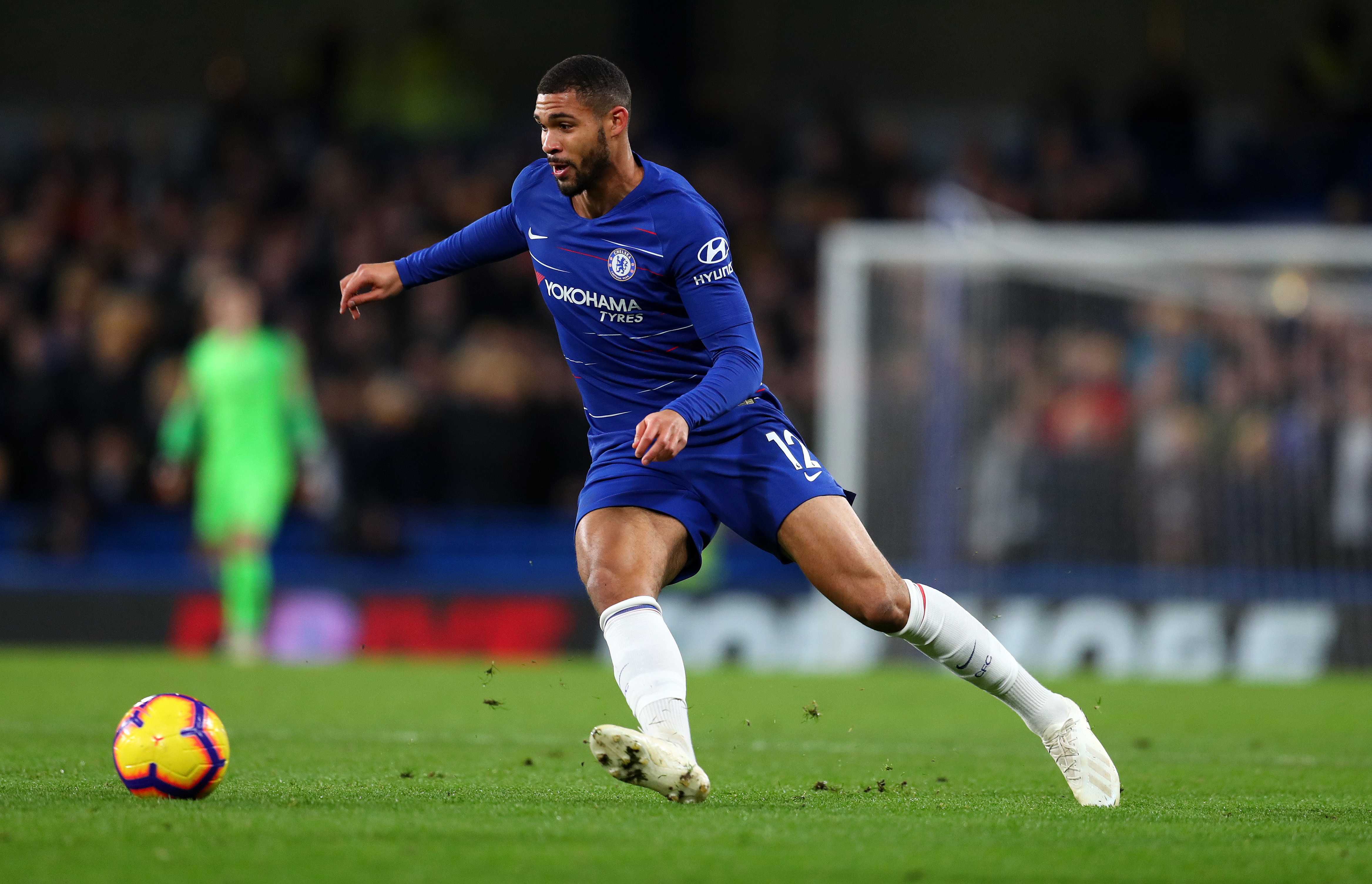 Ruben Loftus-Cheek of Chelsea during the Premier League match between Chelsea FC and Leicester City at Stamford Bridge on December 22 2018