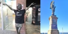 ReSisters United shared photos of dozens of defaced statues, including a memorial to Cilla Black