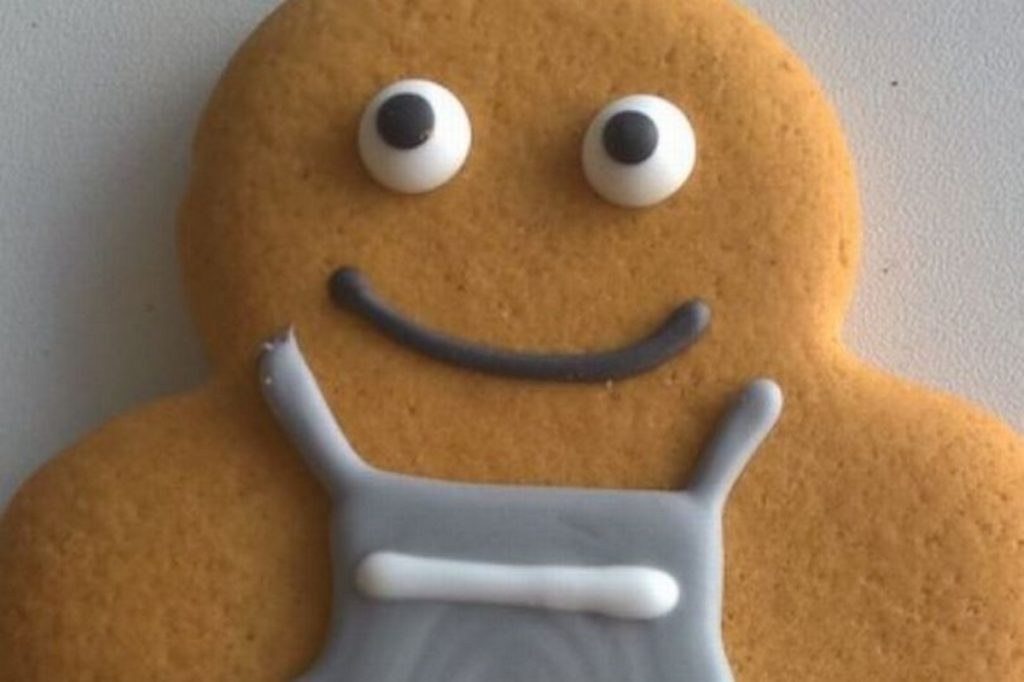 A picture from Co-op of its new gender neutral gingerbread person.