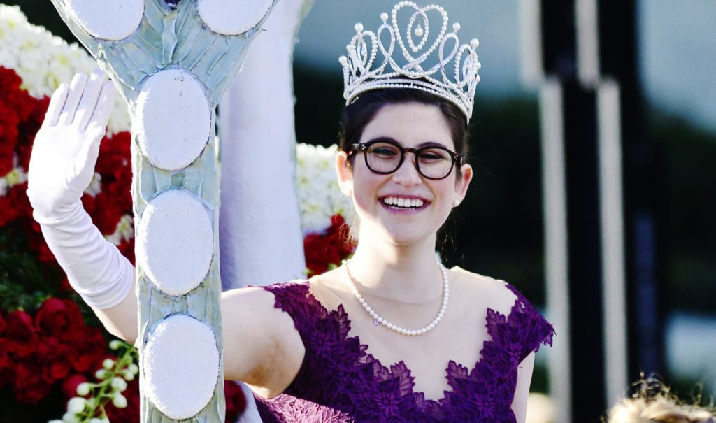 2019 Rose Queen Louise Deser Siskel participates in the 130th Rose Parade Presented By Honda 'The Melody Of Life' on January 01, 2019 in Pasadena, California, before becoming a target of hate from the Westboro Baptist Church.
