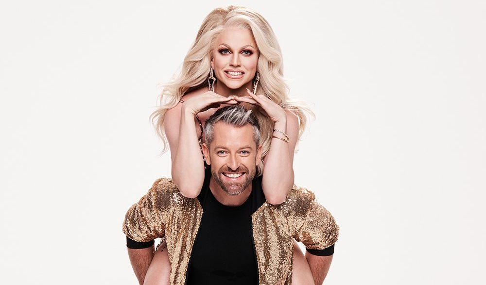 "Courtney Act danced with a male partner on Dancing with The Stars Australia to the tune of ""Fell It Still."""