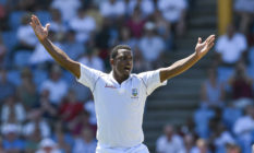 Shannon Gabriel of West Indies gestures as he plays against Joe Root's England on day 1 of the 3rd and final Test between West Indies and England at Darren Sammy Cricket Ground, Gros Islet, Saint Lucia, on February 09, 2019