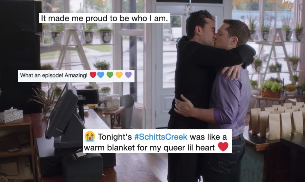 Viewers loved the latest Schitt's Creek episode.