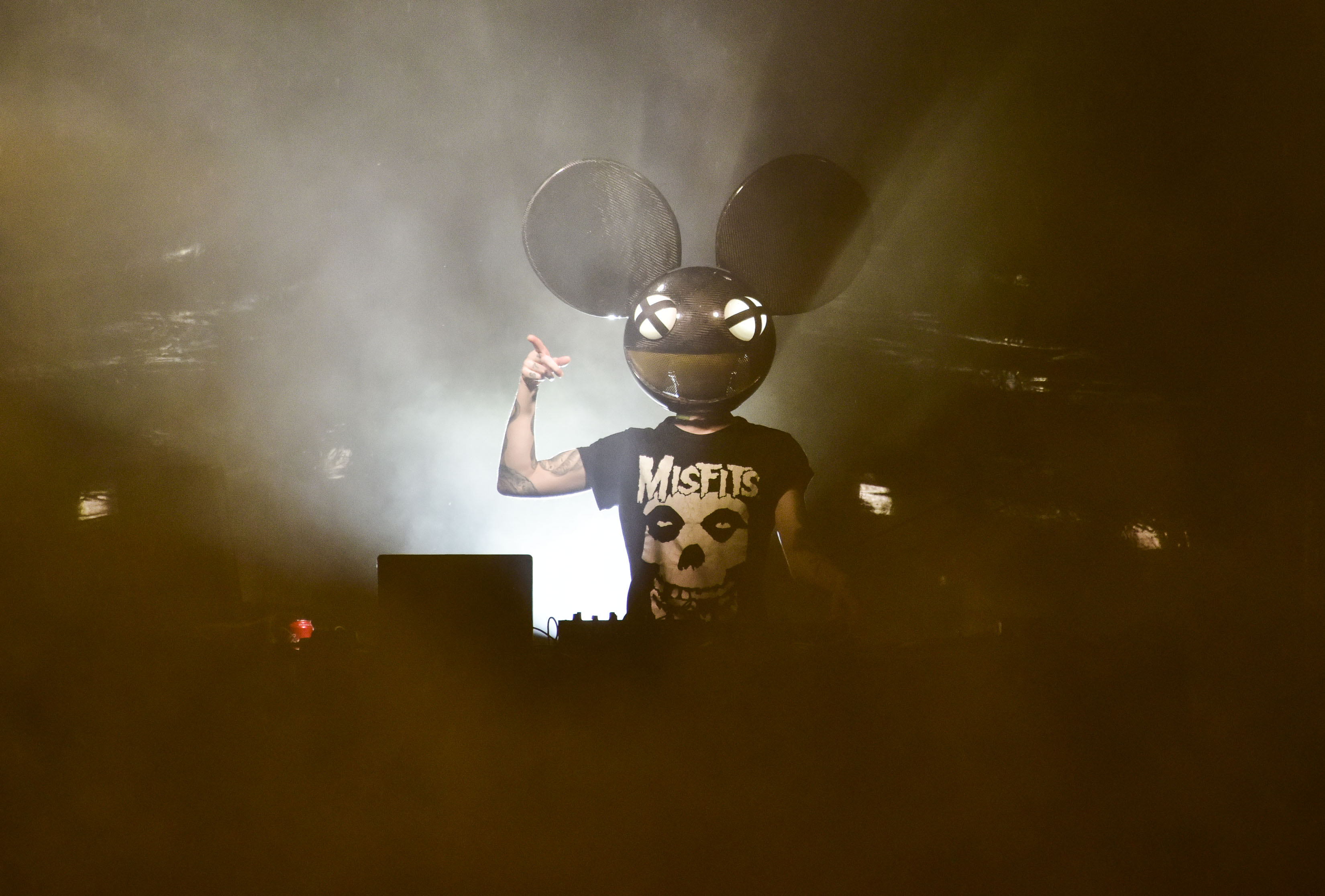 Deadmau5 Performs At The Seaport District's Pier 17 Rooftop on September 8, 2018 in New York City