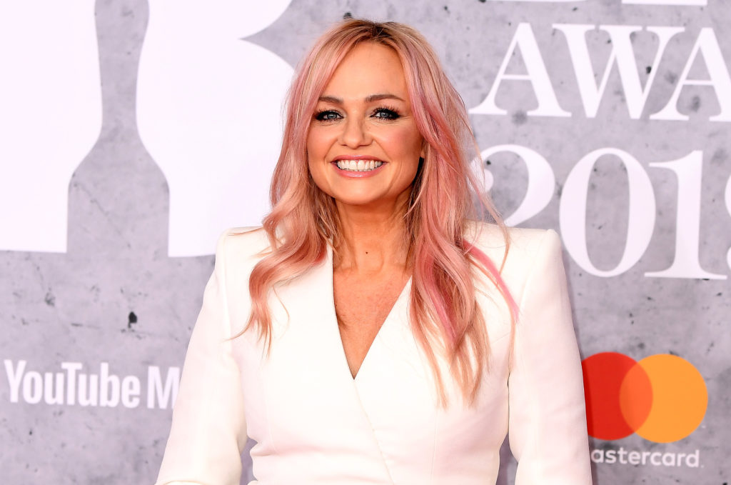 Emma Bunton from Spice Girls attends The BRIT Awards 2019 held at The O2 Arena on February 20, 2019 in London, England.