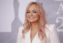 British singer Emma Bunton, member of The Spice Girls, poses on the red carpet on arrival for the BRIT Awards 2019 in London on February 20, 2019.