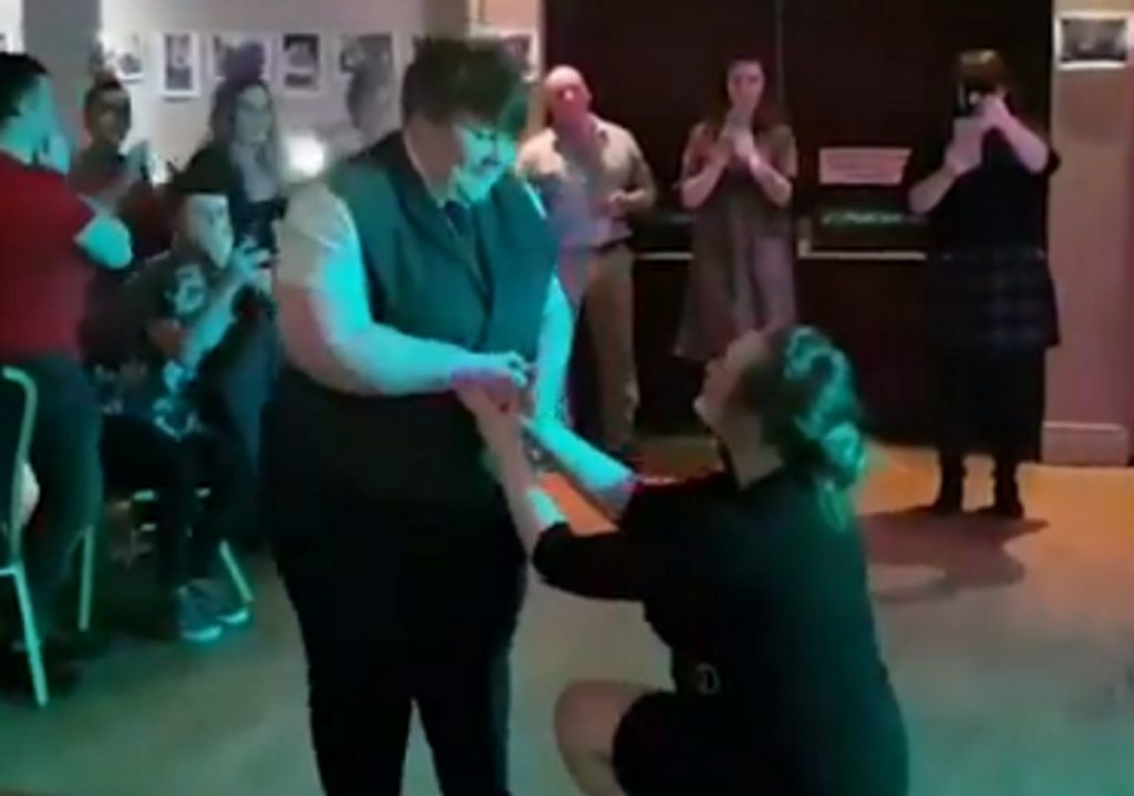 Shannon Whelan proposed to her lesbian partner Ciara Smyth on February 15, 2019