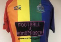 English football team Altrincham FC's Pride flag-inspired shirt