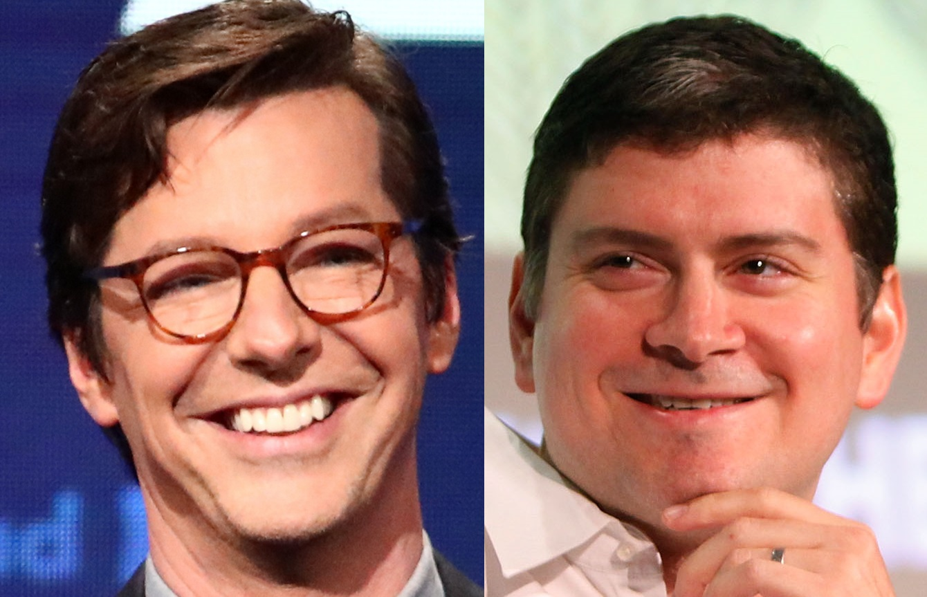 Sean Hayes and Mike Schur, who will helm new Netflix show Q-Force.