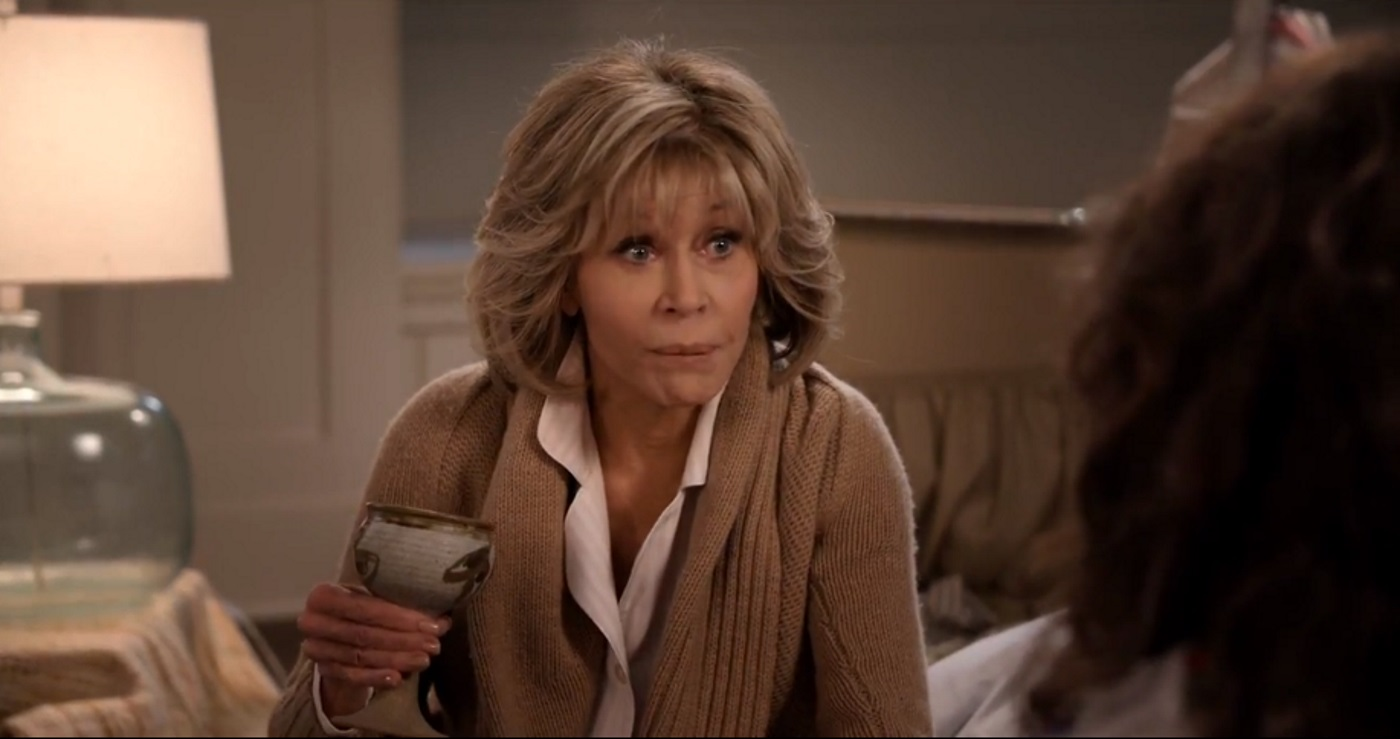 A still from season five of Grace and Frankie, which is on Netflix