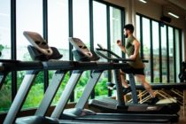 File photo. A man runs in a gym