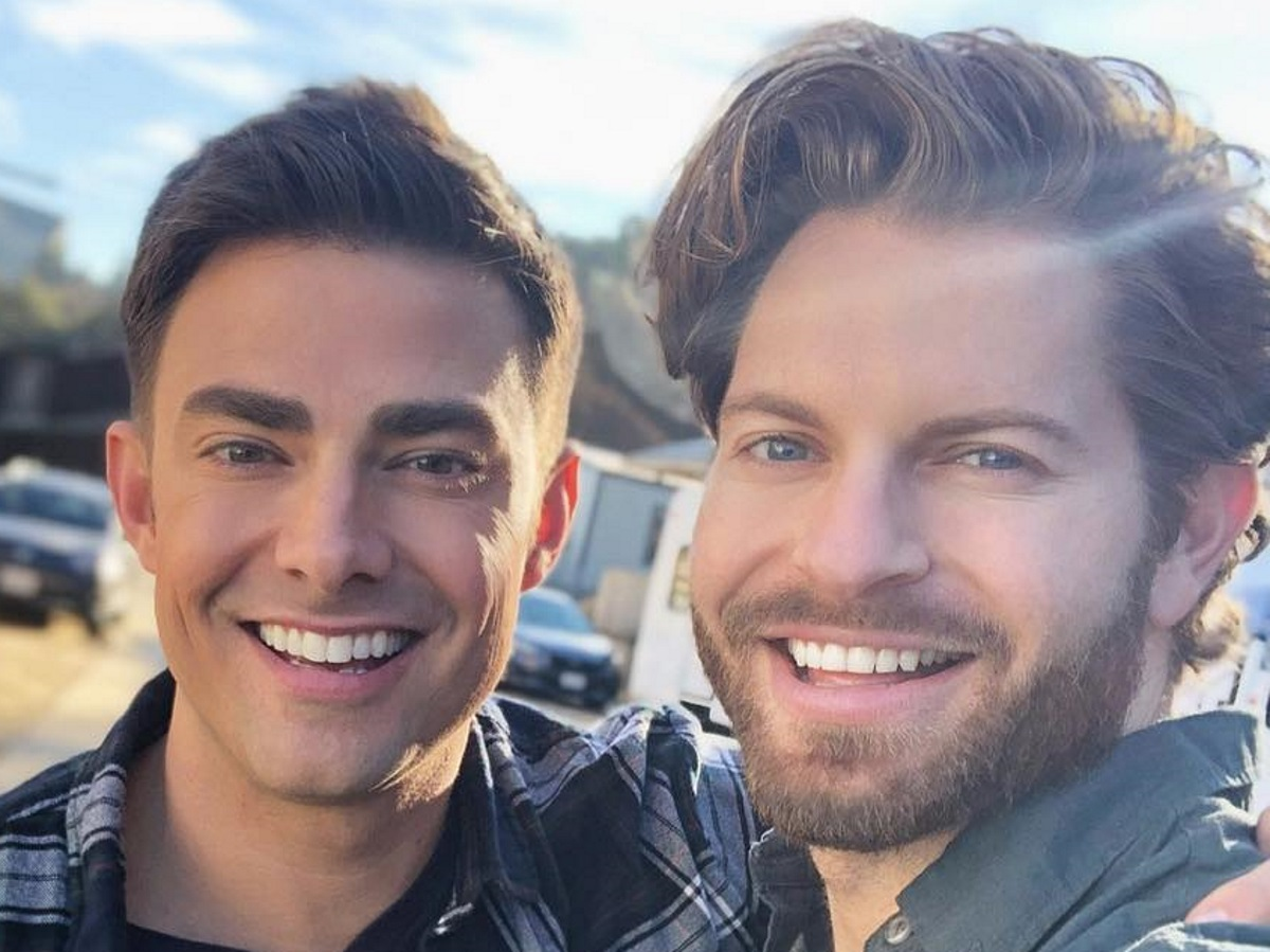 Jaymes Vaughan and Celebrity Big Brother contestant Jonathan Bennett in an Instagram photo