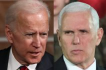 Former Vice President Joe Biden and current Vice President Mike Pence