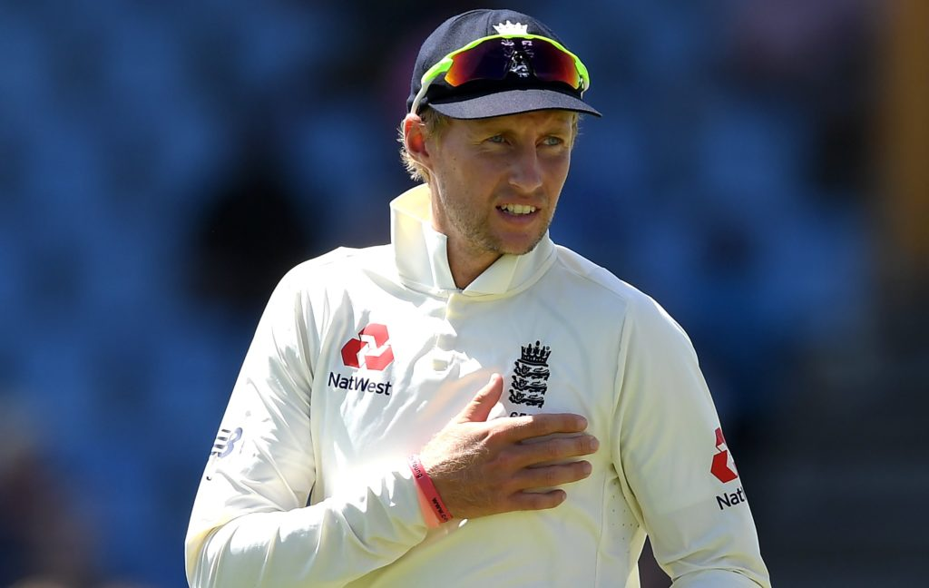 Joe Root of England complains of chest pain during Day Four of the Third Test match between the West Indies and England at Darren Sammy Cricket Ground on February 12, 2019 in Gros Islet, Saint Lucia