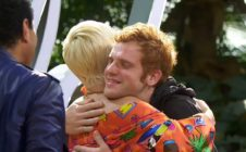 Jeremiah Lloyd Harmon hugs Katy Perry on American Idol.