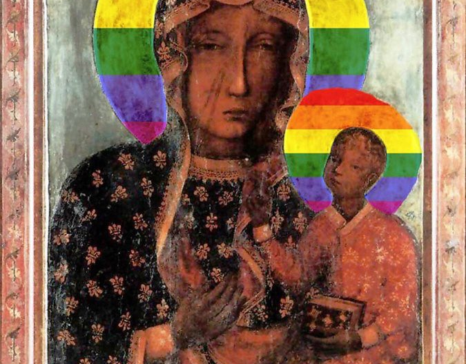 Activist detained by police in Poland over LGBT Virgin Mary images