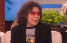 Lily Tomlin appearing on The Ellen DeGeneres Show on January 15