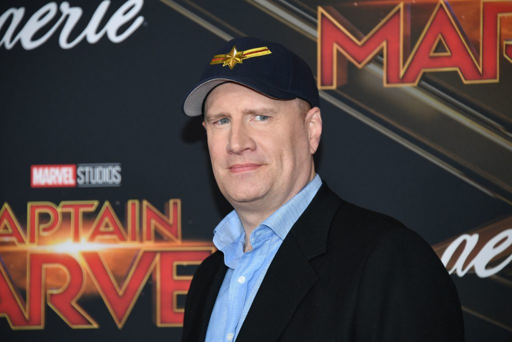 "US producer Kevin Feige attends the world premiere of ""Captain Marvel"" in Hollywood, California, on March 4, 2019."