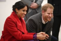 Meghan Markle and Prince Harry during their visit to the Hive, Wirral Youth Zone as part of a visit to Birkenhead on January 14, 2019, in Birkenhead, United Kingdom