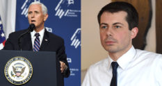 Vice President Mike Pence and Democratic candidate Pete Buttigieg