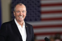 Democratic candidate Phil Murphy, who ran against Republican Lt. Gov. Kim Guadagno for the governor of New Jersey , speaks at a rally on October 19, 2017 in Newark, New Jersey
