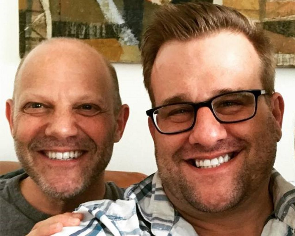 A Facebook photo of Nurse Jackie star Stephen Wallem and his fiance Tony Humrichouser.